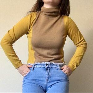 60s style mod merino wool turtleneck
