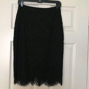 Bebe high waisted lace skirt