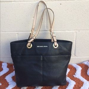 Michael Kors Bedford Pebbled Leather Tote Handbag