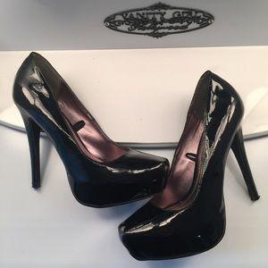 Steve Madden Patent Black Heels