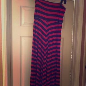 Brand New Red and Navy Maxi Skirt