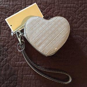NWT Michael Kors Heart Coin Purse Wristlet