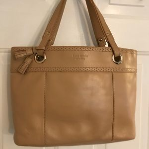 🛍 Kate Spade Large Tan Leather Tote Bag