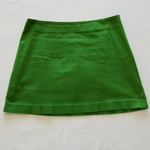 Adorable Green Express Mini Skirt