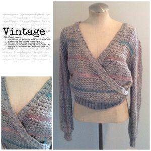 Vintage 1980's Mock Wrap Sweater