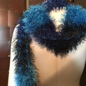 Multi colored blue scarf