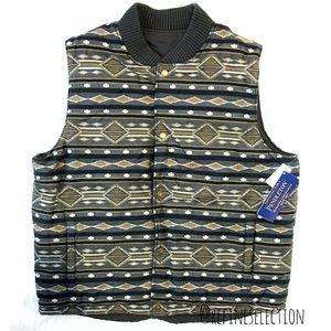 Pendleton Aztec Southwest Puffer Reversible Vest