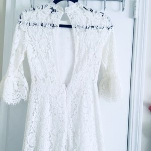 White floral dress from Top Shop
