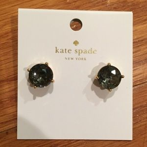 Kate Spade black and gold gumdrop earrings