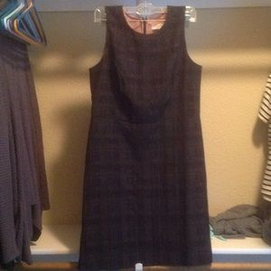 NWT Loft black plaid dress