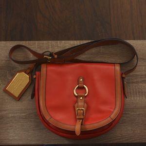 Ralph Lauren leather crossover saddle handbag