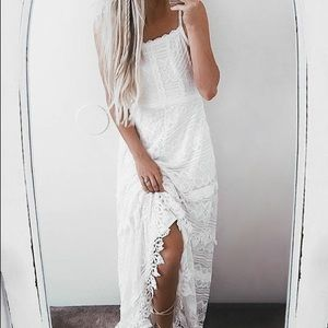 Lulus Beneath the the Garden Arbor lace maxi dress