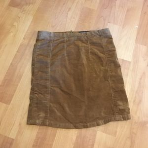Brandy Melville tan corduroy skirt