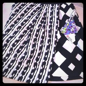 Black and White Multi-Pattern Skirt
