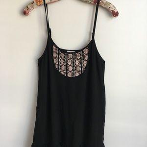 Women's Nordstrom Black Embroidered En Creme Dress