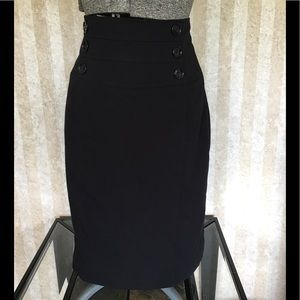 High waist black pencil skirt