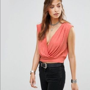 NWT Free People Dream Wrap Crop Top
