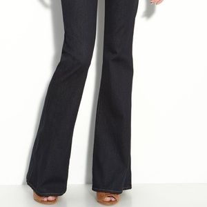 <J Brand> Babe Flare Leg Stretch Jeans Starless