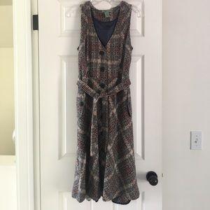 Adorable wool plaid jumper dress