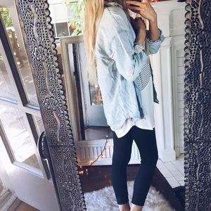 Zara Denim Chambray Button Down Shirt