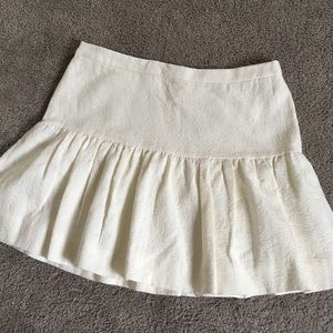 J. Crew ruffle mini skirt in cream!! New w/ Tags!