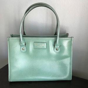 Kate Spade satchel shoulder leather mint handbag