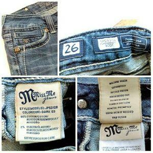 Miss Me Jeans - Miss Me Jeans w/ Fleur De Lis & Rhinestones