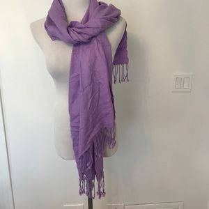 Accessories - Lavender purple pashmina stunning accent piece