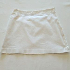 Adorable White Express Mini Skirt