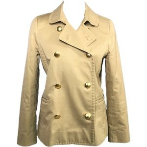 "J.Crew ""Trudy"" Trench style Peacoat in Khaki"