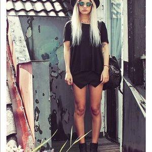 Black mini skort