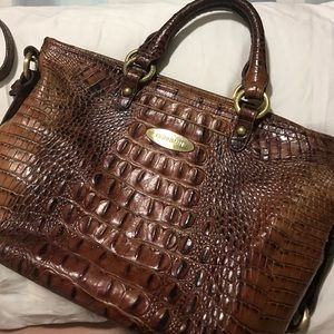 Brahmin Toasted Almond Satchel/crossbody bag
