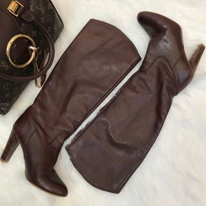 ZARA Basic Brown Leather Boots
