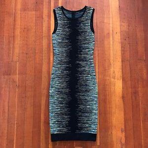 KAREN MILLEN - Abstract Bodycon Dress 1 / US 2-4