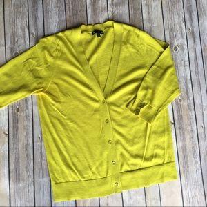 Gap lime green v-neck cardigan