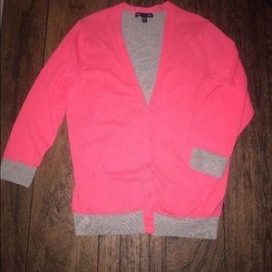 Gap women's pink and grey cardigan 3/4 length S