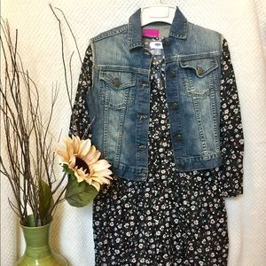 Black Old Navy Flower Print Dress