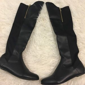 Charlotte Russe Flat Over-the-Knee Boots