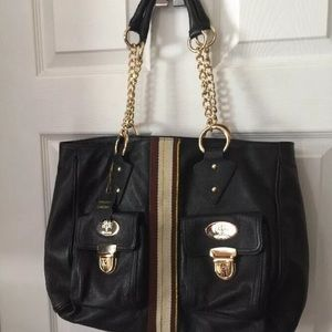 Christine Price diaper Leather bag  pre-owned