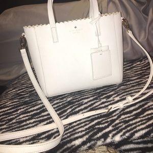 Leather purse. Detachable strap,
