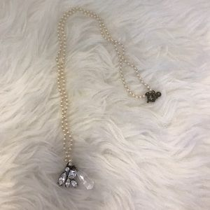 J crew pearl and diamonds necklace