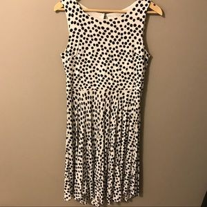 LOFT black & white polka dot circle sundress