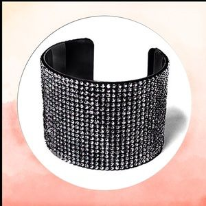 Crystal Covered Cuff Bracelet
