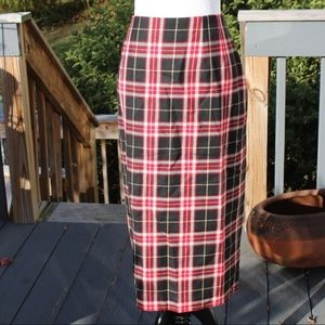 Nygard Collection Wool Lined Plaid Fall Skirt 14