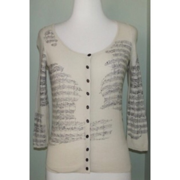 Anthropologie Sweaters - Anthropologie Guinevere Sight Reading Music XS S 050eabe33