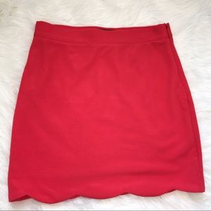 MINKPINK career skirt size medium side zip