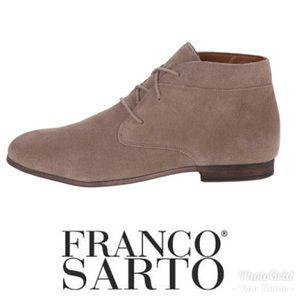 Franco Sarto Suede tie up booties