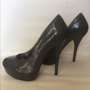 Steve Madden Gray Platform Heels