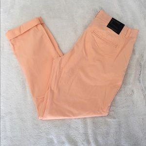 NWT light coral slim ankle cropped pants!
