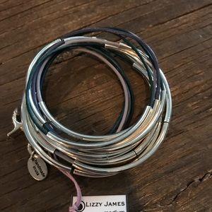 🔥NWT Lizzy James blueberry 5 strand wrap bracelet